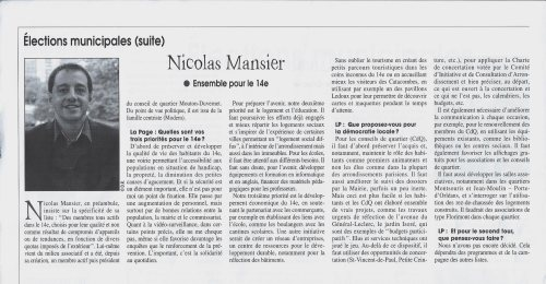 La Page - Nicolas Mansier